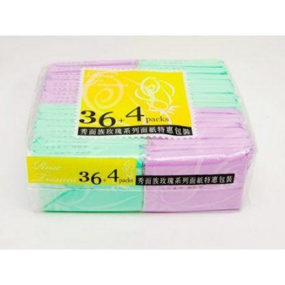 康寶秀面族玫瑰系列袖珍包面紙