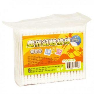 康棉螺旋型紙軸棉棒補充包