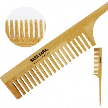 竹藝髮梳-尖尾竹扁梳