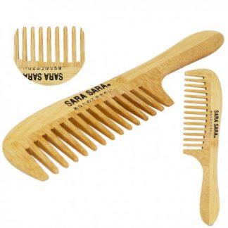 竹藝髮梳 中彎竹扁梳