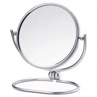高級鍍鉻雙面折疊桌鏡