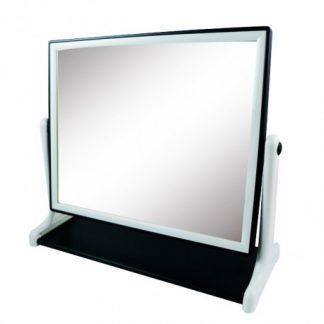 亮顏黑白紋方型桌鏡