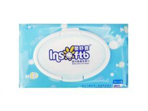 【嬰舒寶】純水(加蓋)80抽嬰兒柔膚濕巾/包